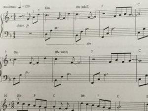 Sustain pedaal notatie 2